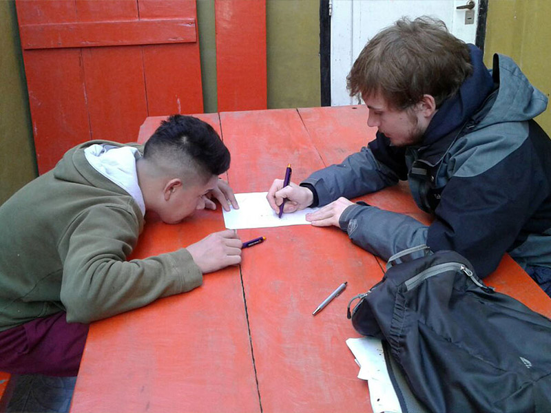 René, Student der FU Berlin entschloss sich nach der Teilnahme an einem Spanischkurs, in San Fernando ein freiwilliges Praktikum zu absolvieren.