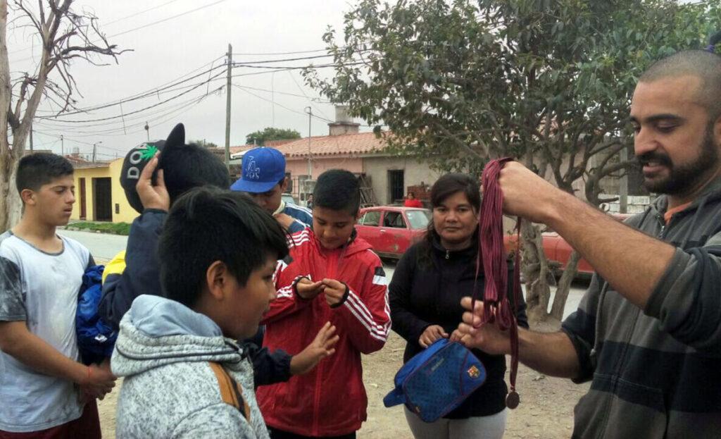 La Andariega veranstaltet auch sportliche Aktivitäten für Kinder und Jugendliche in Salta.