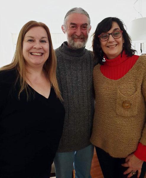 Juan Carlos Cossio mit María Cecilia und Silvia